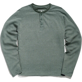 United By Blue Thermal Henley Top Men moss green
